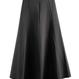 ブラック Aライン 可愛い ハイウエスト スカート フレア
