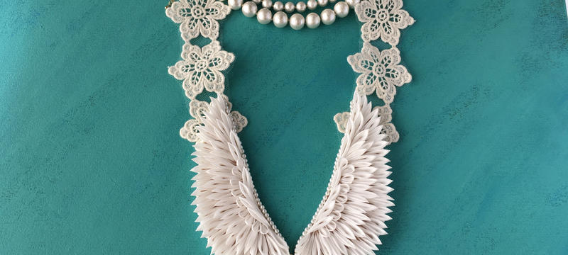 心の翼ネックレス 白無垢