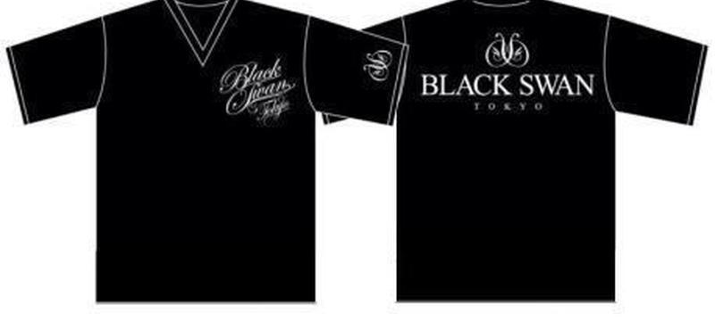 Tシャツ Vネック(半袖) BLACK SWAN(black)