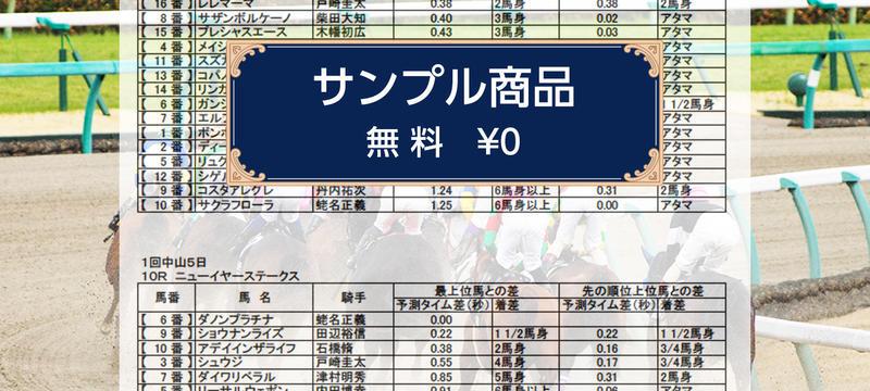 《サンプル商品》1月14日(月)《2場レースパック》8R〜12R