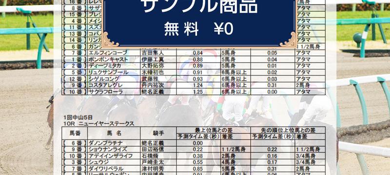 《サンプル商品》《3場レースパック》1月14日(日)9R-12R