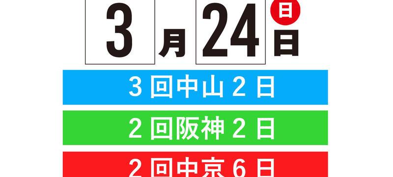 3月24日(日)《3場レースパック》[中山・阪神・中京]8R〜12R