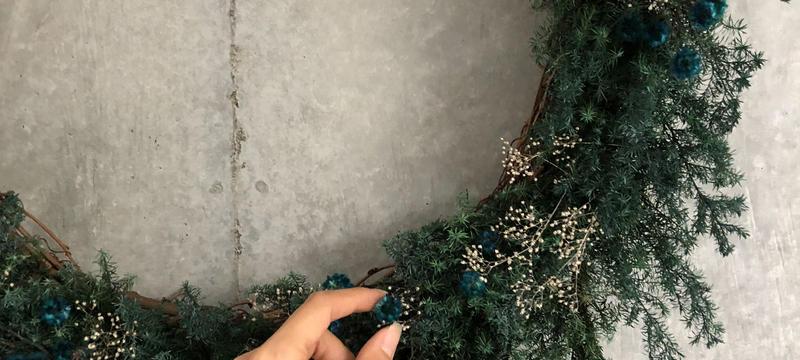 Green big  simple wreath