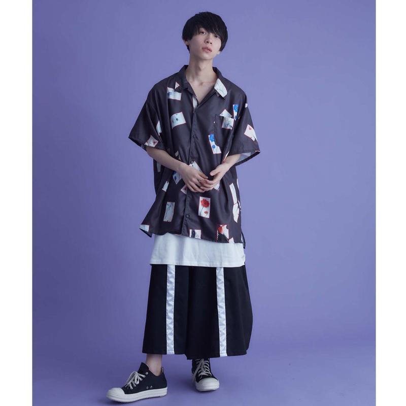 華札の開襟シャツ / 2color