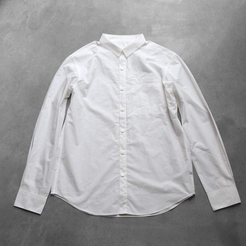 タイプライタークロスコットンシャツ003W【ユニセックス】