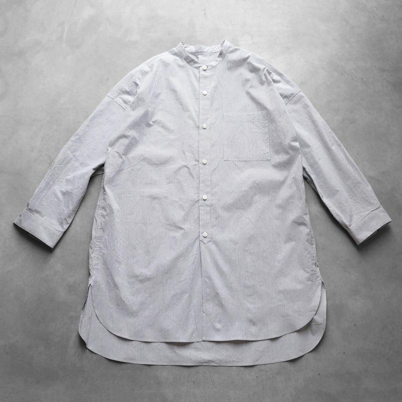 コードレーンバンドカラーロングシャツTHGR【ユニセックス】