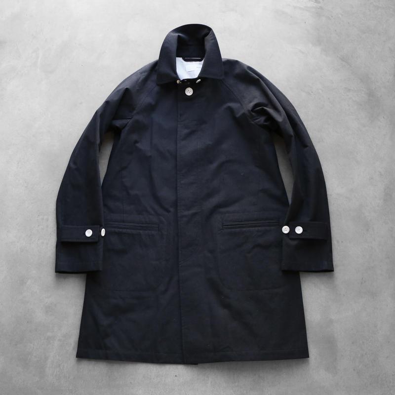 ウォッシャブルウールコットンステンカラーコート【ユニセックス】