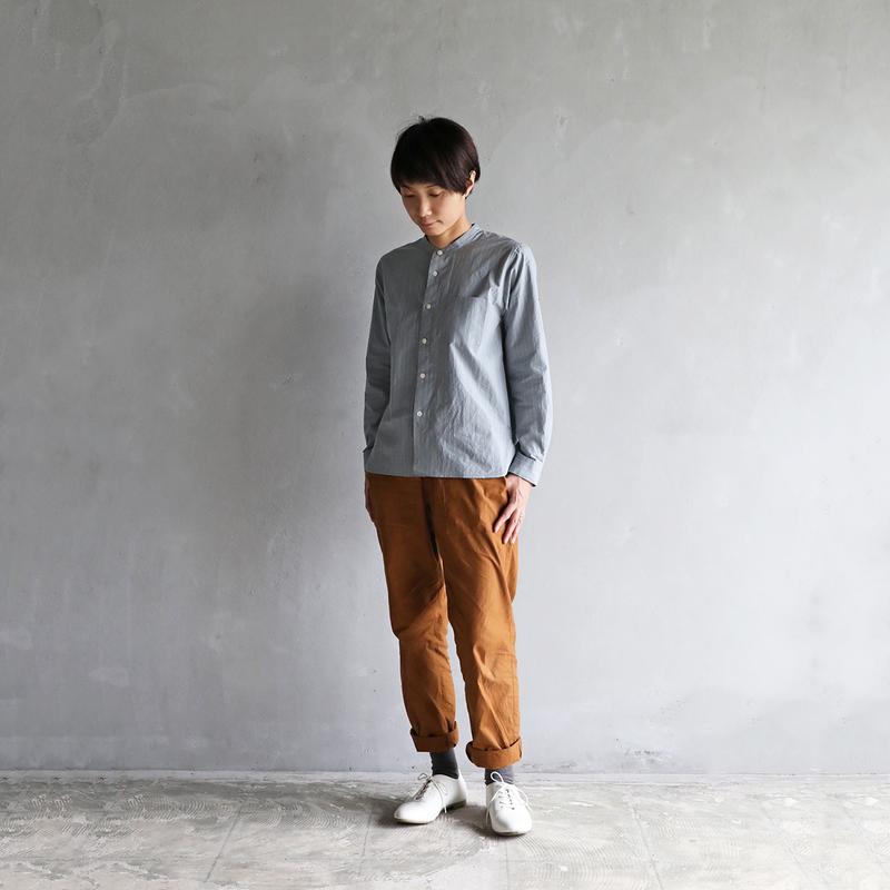 タイプライタークロスバンドカラーシャツGYST【ユニセックス】