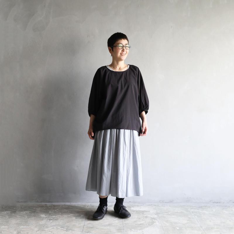 ゆるふわコットンコクーンプルオーバ(クロ)【レディス】