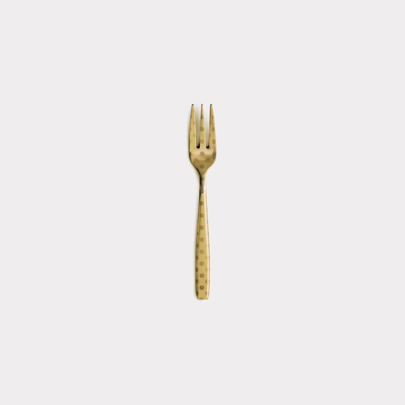 DRESS-GD-Polka Dot-Tea Fork【ドレス - ゴールド-水玉-ティースフォーク】