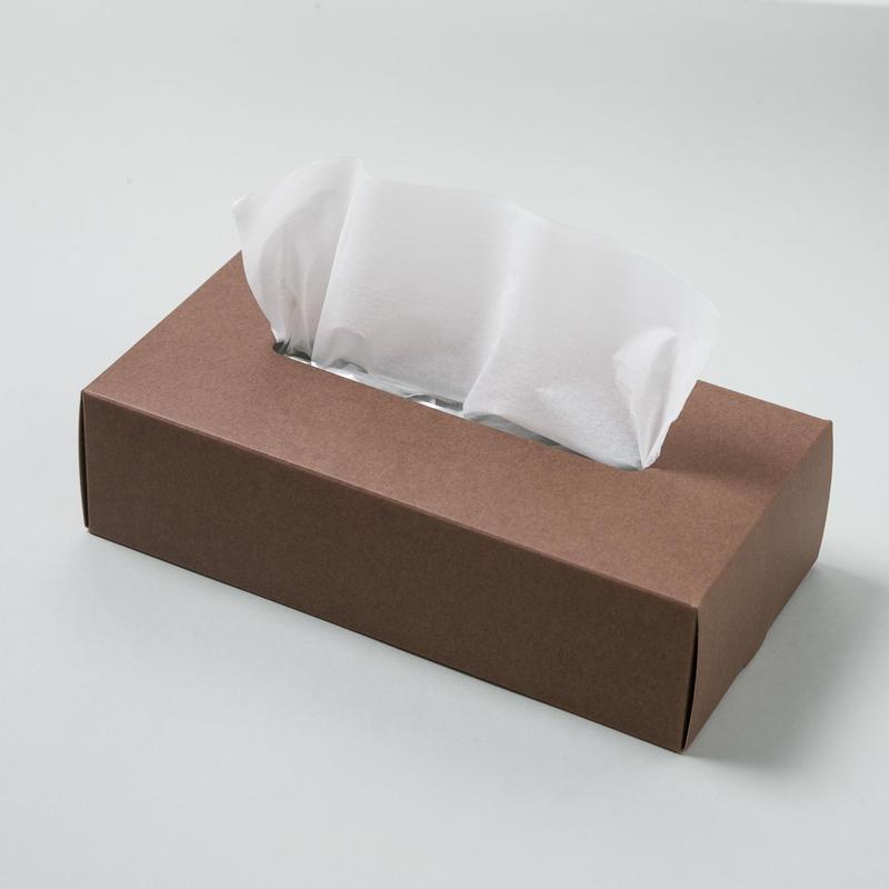 TISSUE BOX CASE【ティッシュ ボックス ケース / ブラウン】