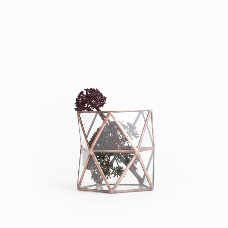 Pentagonal  Twist Vase  [Copper]