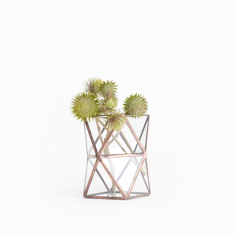 Square  Twist Vase  [Copper]