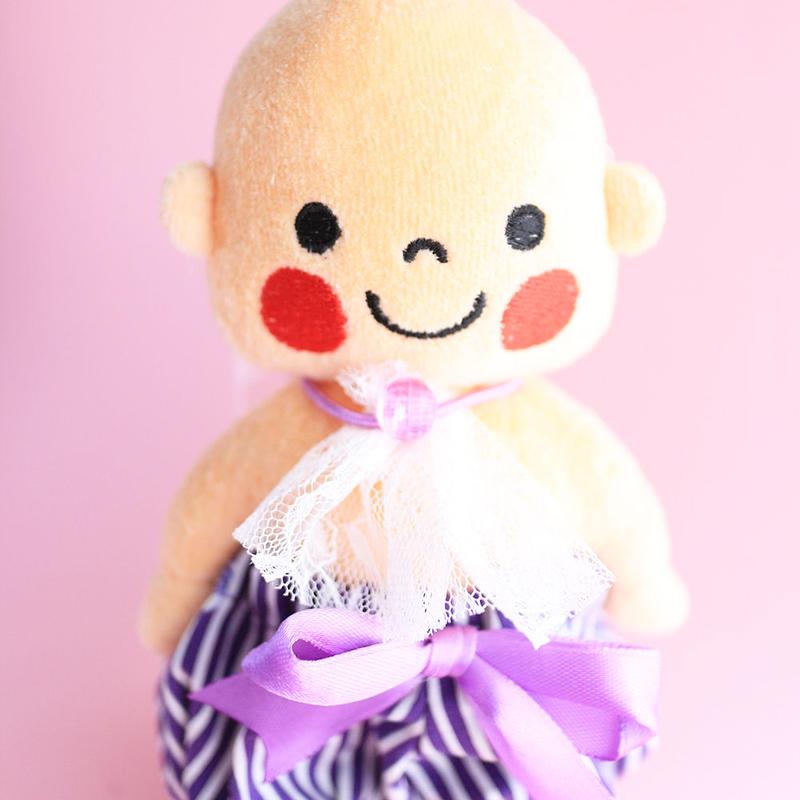 おぱんちゅ(ぷんちゃんぬいぐるみ用)紫ボーダー