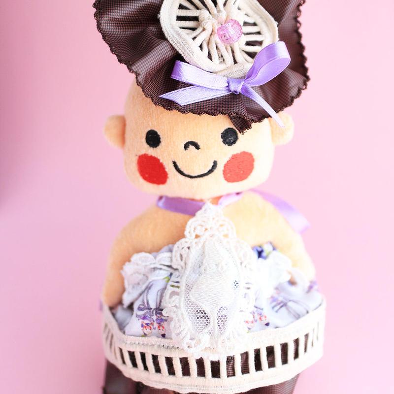 きぷじんドレス(ぷんちゃんぬいぐるみ用)アネモネ