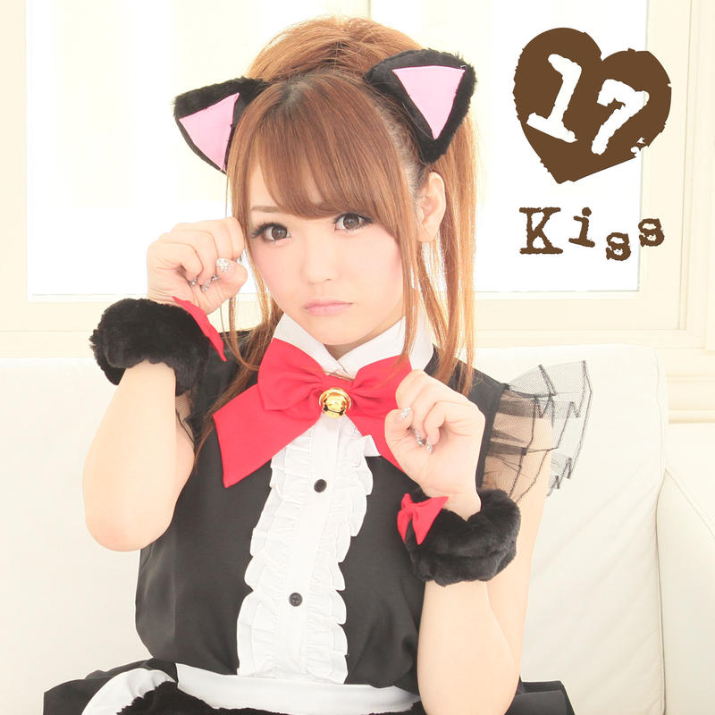 Frill cat maid Black × Red