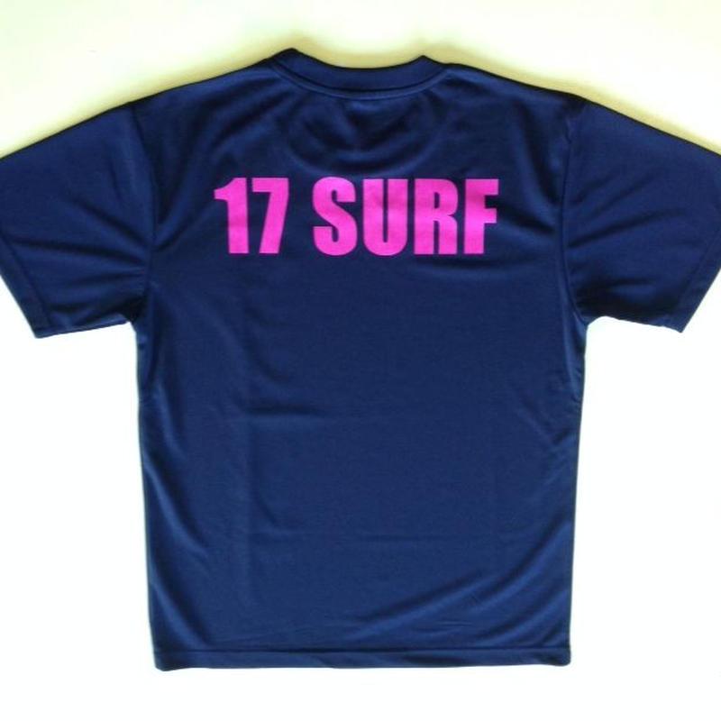 17SURF トレーニングTシャツ ブラック×ホットピンク