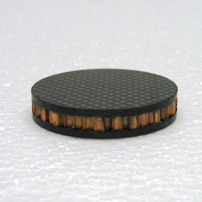 ドライカーボン+ノーメックスハニカム インシュレーター 10厚 <50角 or 50Φ> ※受注生産(1週間~10営業日)