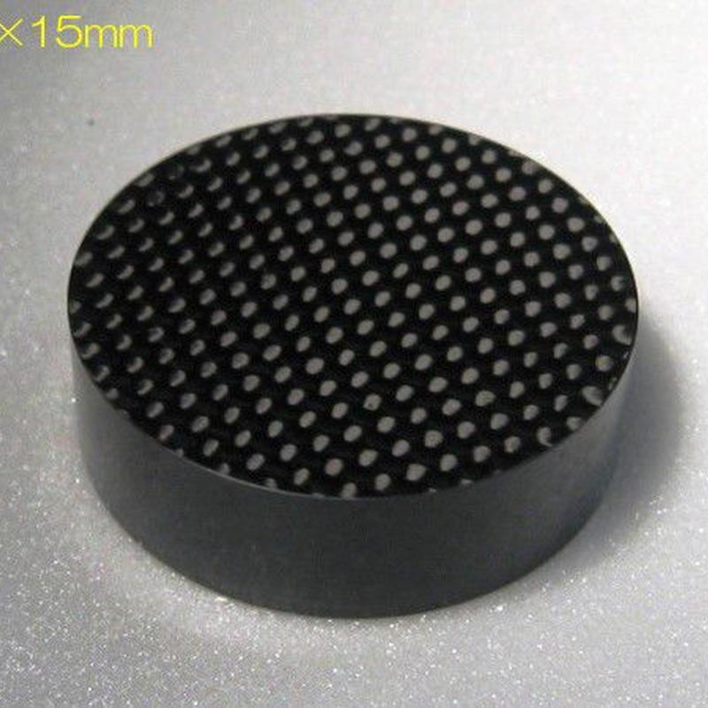 ドライカーボン無垢 インシュレーター 15厚   (50角 or 50Φ) ※受注生産(1週間~10営業日)