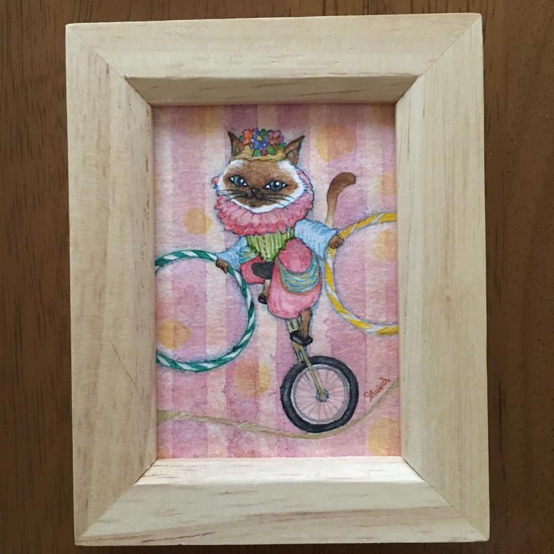 猫髭サーカス団【一輪車】ミニ原画