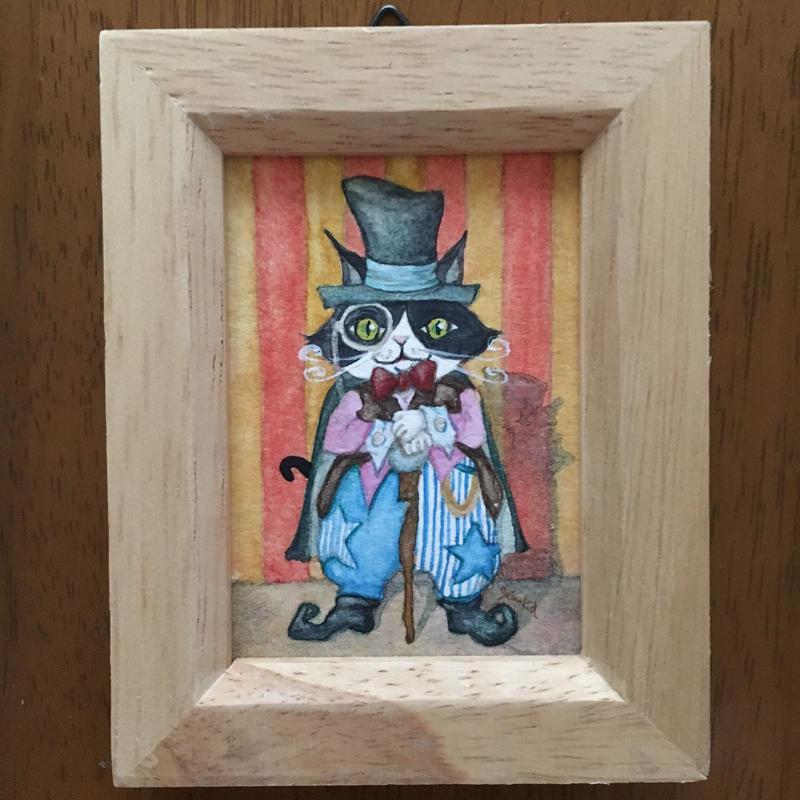 猫髭サーカス団【猫髭団長】ミニ原画