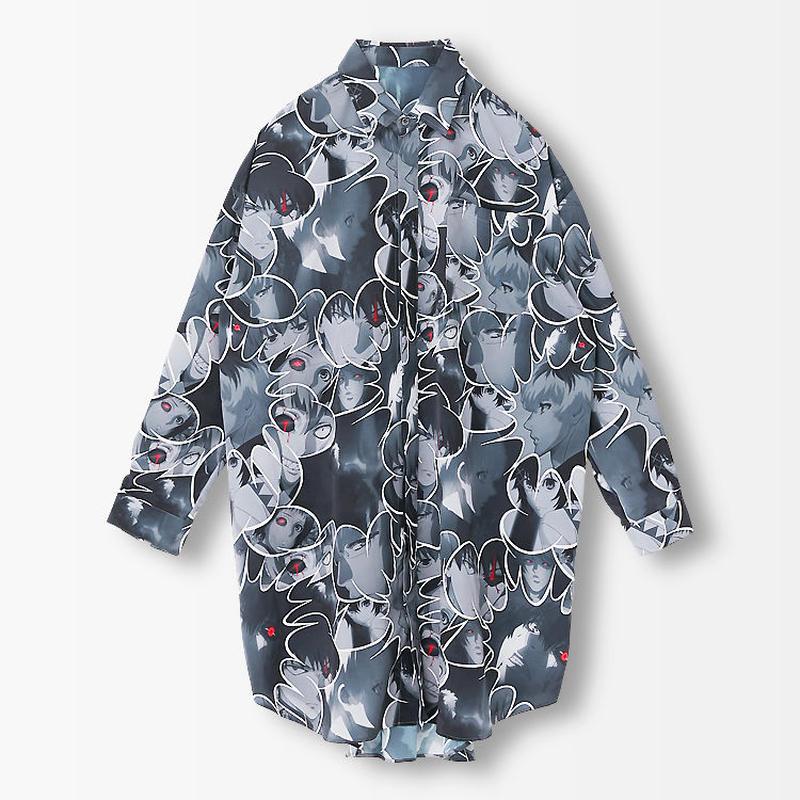 東京喰種:re  TOKYO GHOUL:reコラージュロングシャツ【R4G】