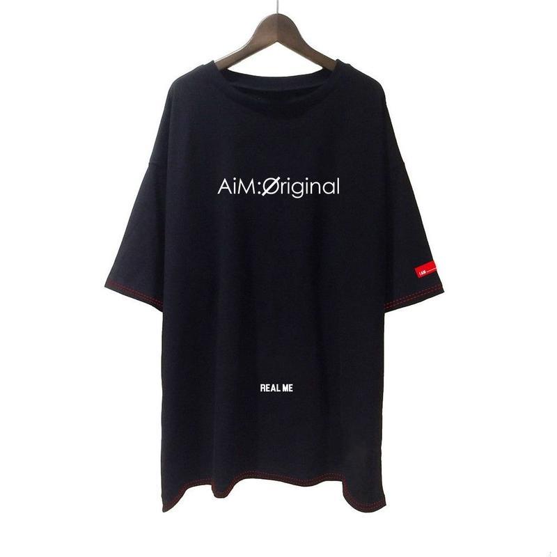 【REAL ME】ビッグTシャツ(闇) 【AiM:Øriginal × 2.5SPINNS】