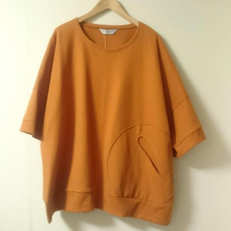 まんまるポケットのカットソー  3aw-215 A.orange