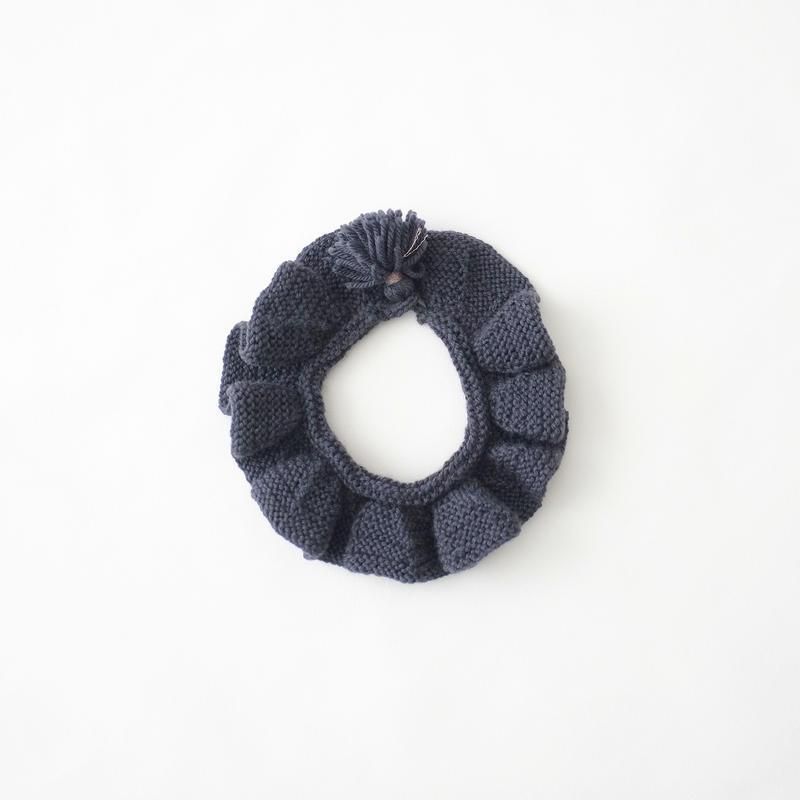 Ruffle Collar・navy/FUZPPAmencoi