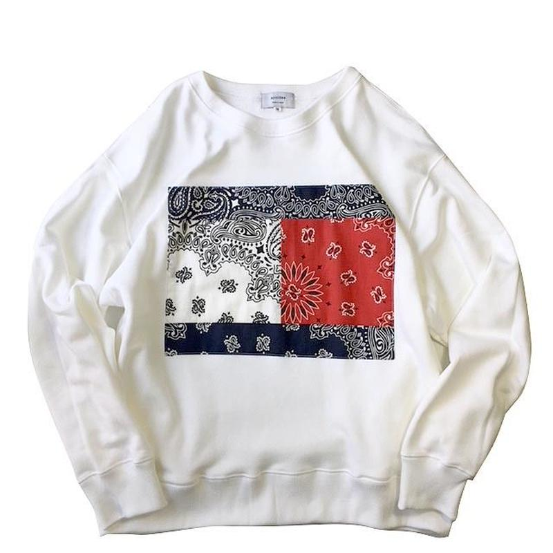 apoidea / Bandana Front Crew Neck Sweat