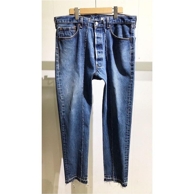 """OLDPARK  / Slim flare jeans  #Blue """"H"""" / size:XL"""