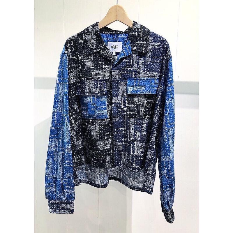 NuGgETS / Open-necked-shirt ''Bandana'' /  size:Free