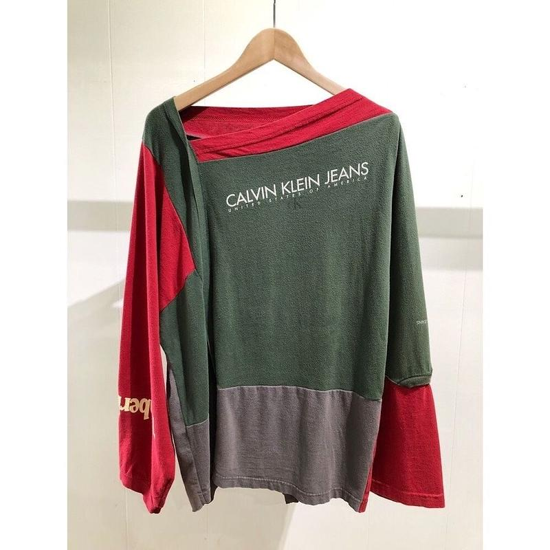 OLDPARK  / Patch work L/S Tee #Other /  size:M
