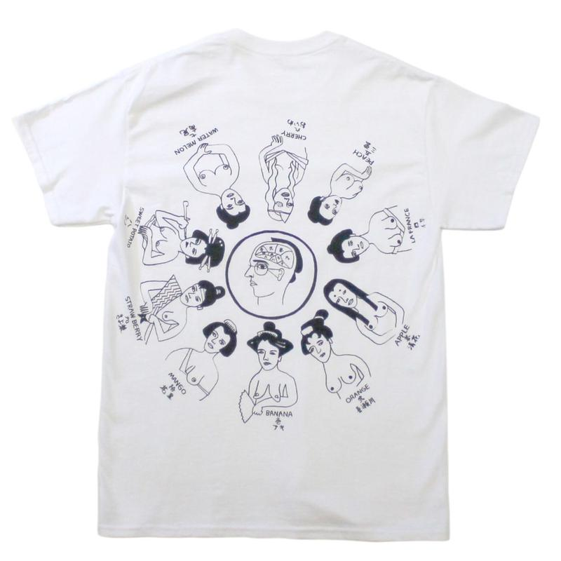 "SHUNTAROU TAKEUCHI × RYUHEI KOBOSHI /""Oiran"" S/S tee - white body back print"