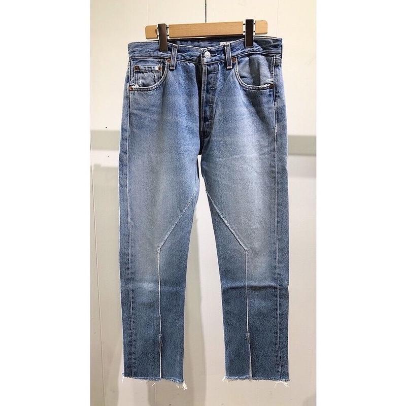 "OLDPARK / Slit Jeans #Blue ""D"" / size:S"
