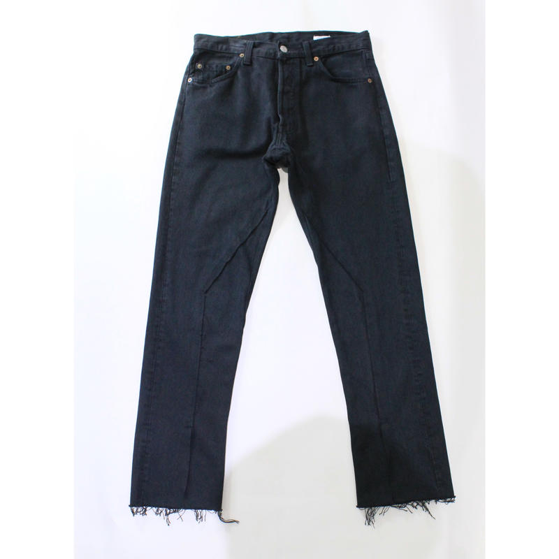 old park / Slit Jeans  #Black