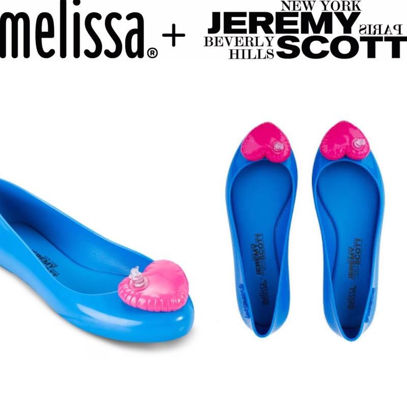 レディース☆正規輸入☆メリッサとジェレミースコットのコラボラバーシューズ ☆ハートのバルーン Melissa + Jeremy Scott Collection