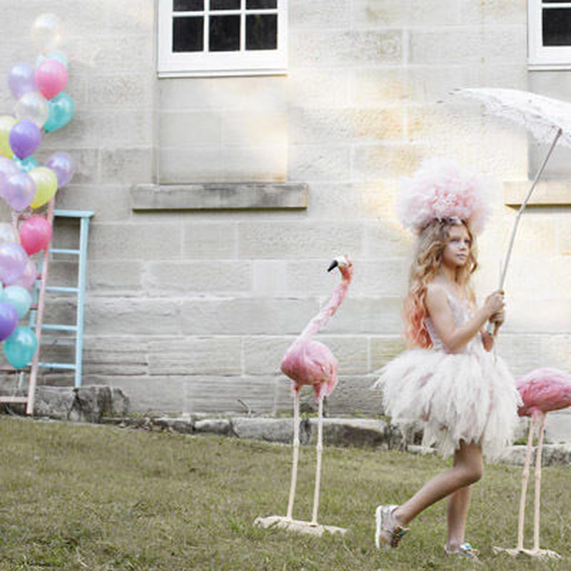 Tutu du monde★/ フワフワのチュールスカートが上品でガーリーなチュチュドレス☆インポート子供服  チュール ジュニア  XS