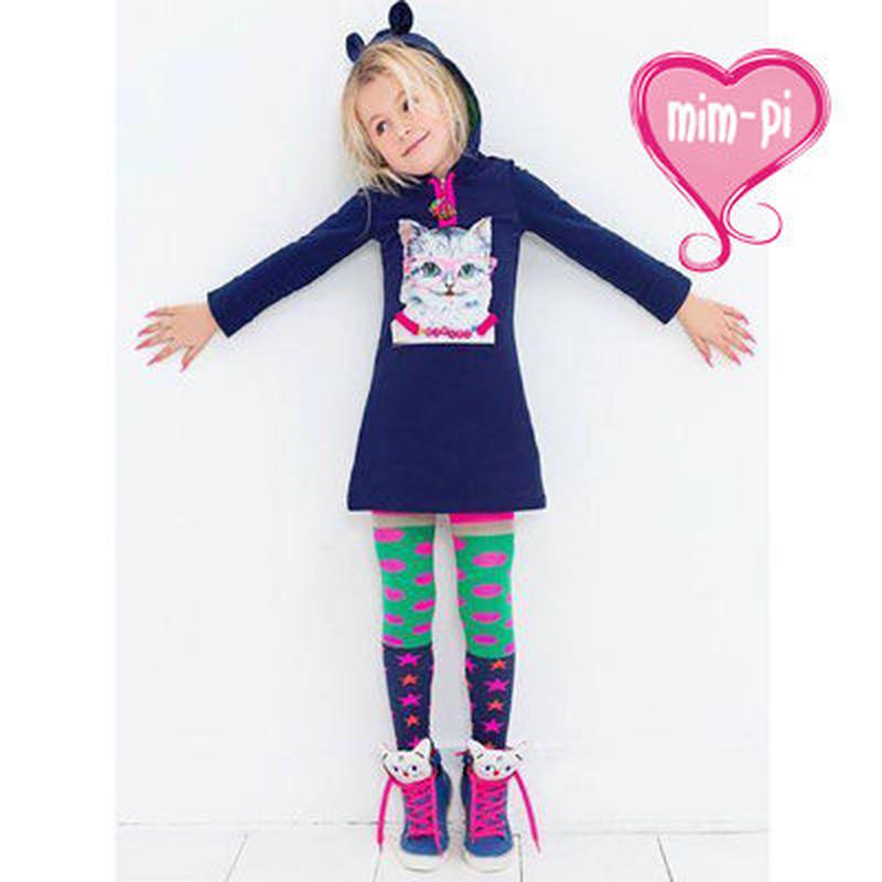 Mim-Pi(ミンピ)のネコプリントのワンピース★猫耳のついたフードが可愛い Kitty Cat Print T-shirt Dress