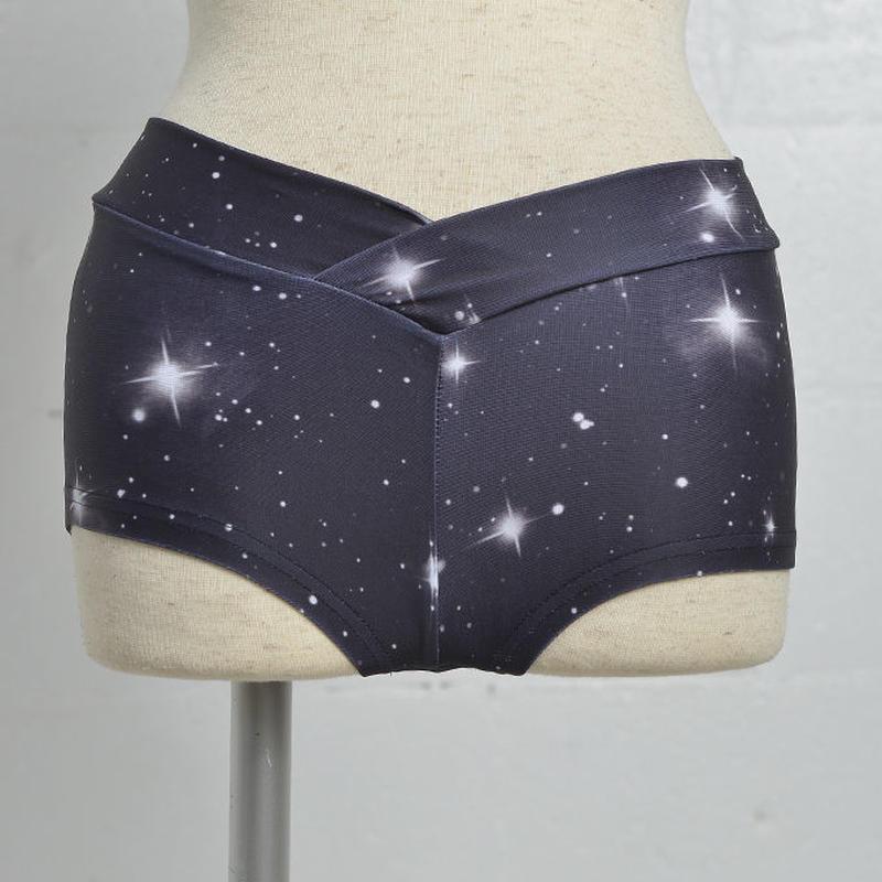4U_PARISAMSTERDAM 【フォーユーパリアムステルダム】TWINKLE STAR SOHRT PANTS WH【トゥインクルスター ショートパンツ ホワイト】