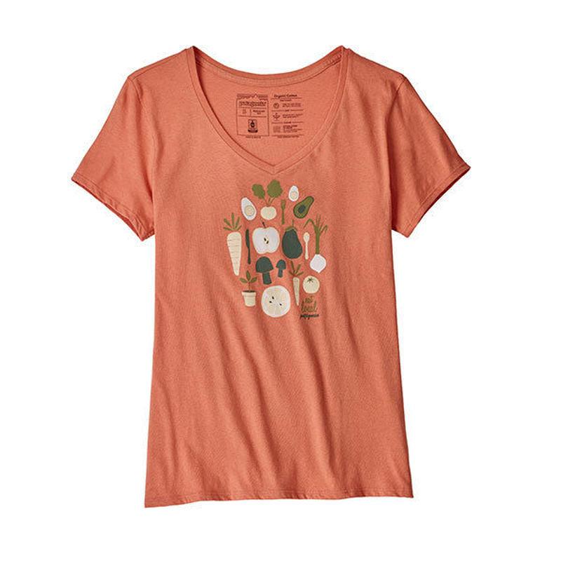 patagonia(パタゴニア)Women's Harvest Haul Organic V-Neck T-Shirt(ハーベストホールオーガニックVネックTシャツ)9376-25093