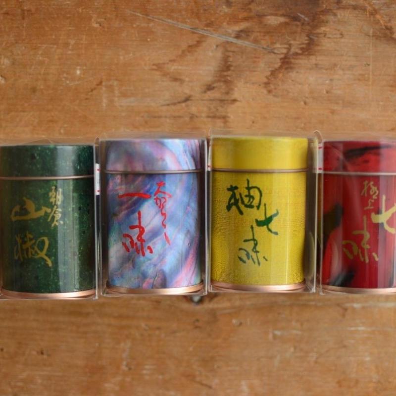 【缶のみ】七味・柚子七味・山椒・一味用保存缶  やまつ辻田
