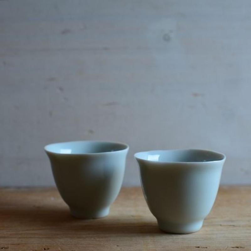 渡辺キエさん  茶杯 高(白磁/青白磁)