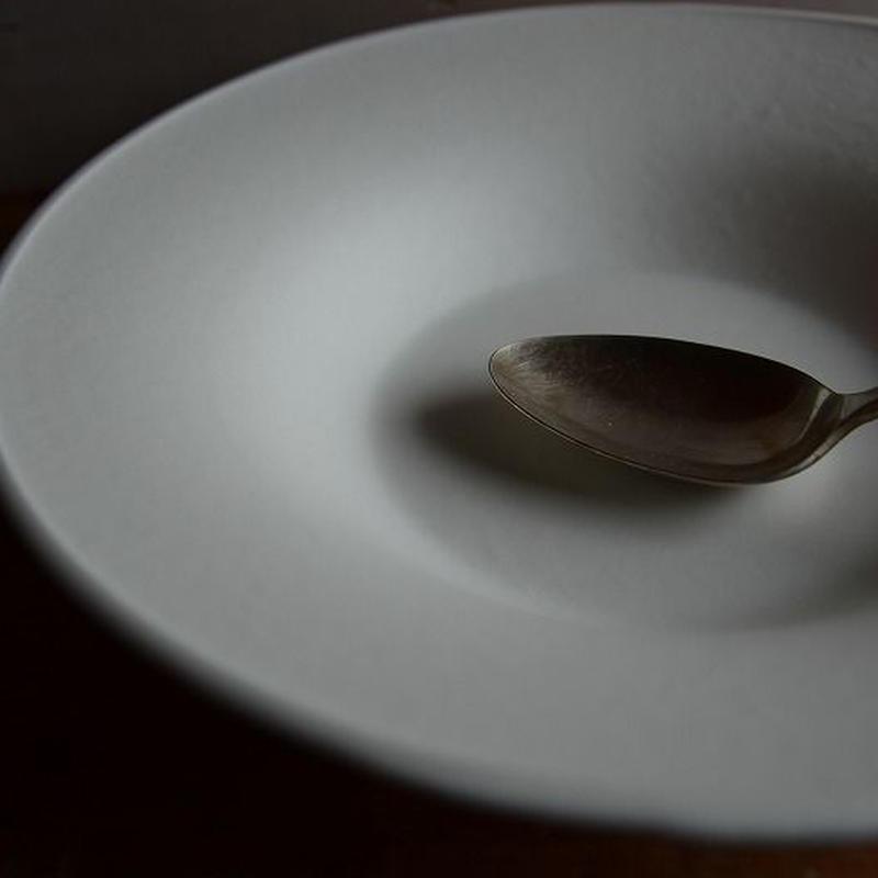 白石陽一さん 白磁 パスタ皿