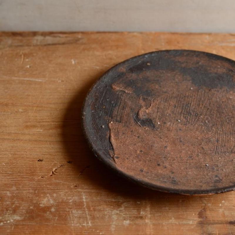 長野大輔さん 錆釉5.5寸皿