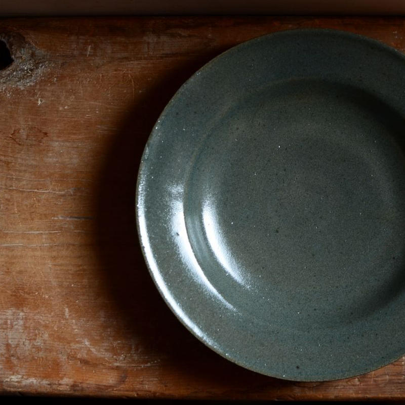 関口憲孝さん  スープ皿  青緑