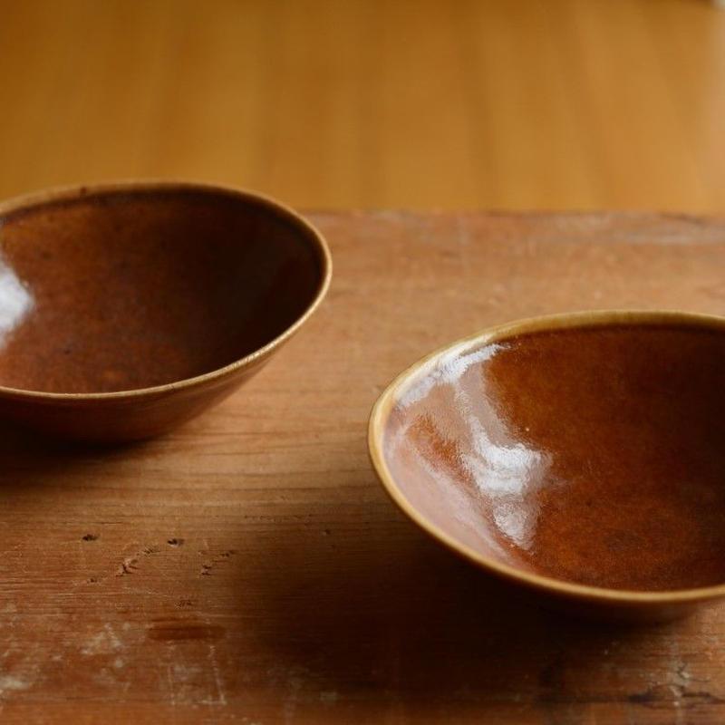 関口憲孝さん  オレンジ 楕円豆鉢