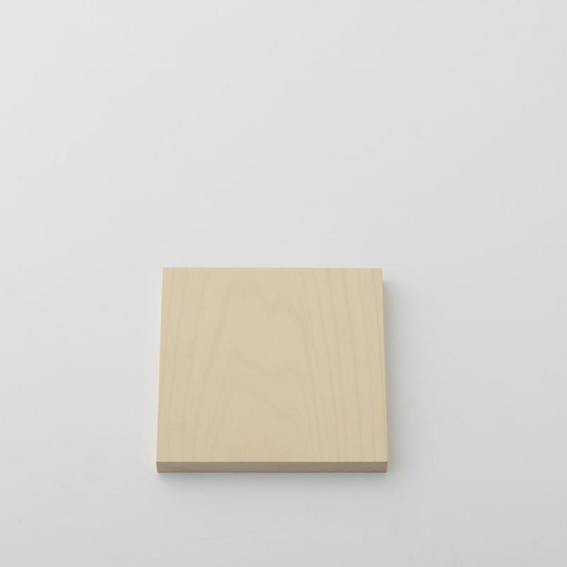 【お取り寄せ】woodpecker(福井賢治さん) いちょうの木のまな板 真四角