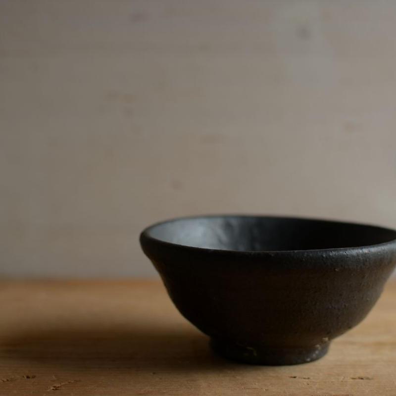 高田谷将宏さん 黒釉 豆鉢
