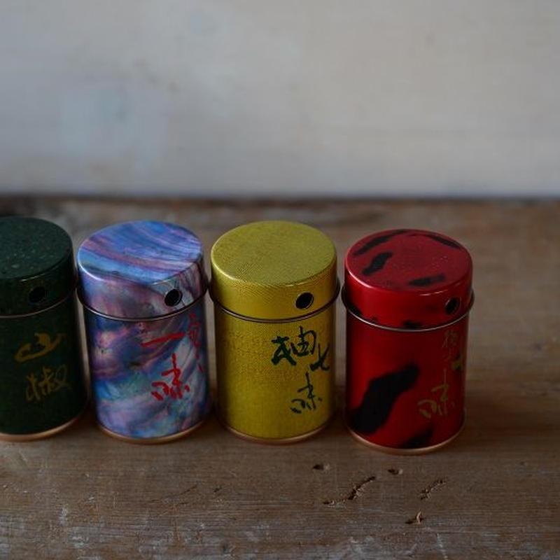 【新入荷】七味・柚子七味・山椒・一味用保存缶(缶のみ)  やまつ辻田